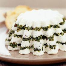 Yogurt Cheese Torta with Pesto Recipe