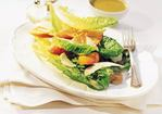 Stacked Caesar Salad with Parmesan Rafts Recipe