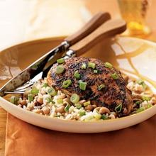 Spiced Chicken with Black-Eyed Peas and Rice Recipe