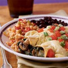 Creamy Spinach and Mushroom Enchiladas Recipe