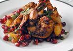 Blackened Shrimp with Pomegranate-Orange Salsa Recipe