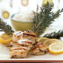 Diver Scallops Grilled on Rosemary Recipe