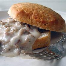 Biscuits and Vegetarian Sausage Gravy Recipe