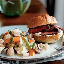 Cognac-Marinated Beef Tenderloin Sandwiches with Horseradish Cream Recipe