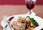 Herb-Roasted Tenderloin with Sauted Mushrooms Recipe
