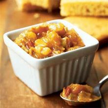 Corn Bread with Curried Apricot Chutney Recipe