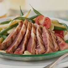 Summer Salad of Seared Tuna, Lima Beans, and Tomatoes Recipe
