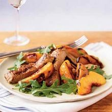 Grilled Peaches and Pork Recipe