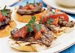 Grilled Bread with Tuscan-Style Lamb Recipe