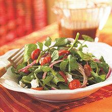 Arugula, Roasted Tomato, and Goat Cheese Salad Recipe
