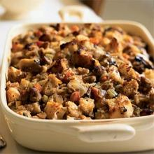 Sourdough Stuffing with Pears and Sausage Recipe