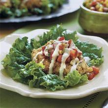 Southwestern Chicken-Corn Cakes Recipe
