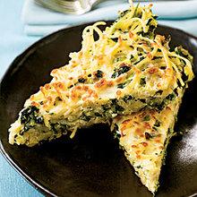 Linguine Frittata With Greens Recipe
