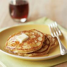 Hazelnut-Cornmeal Pancakes Recipe