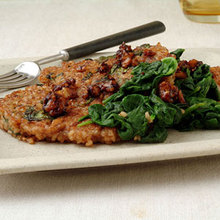 Bulgur, Spinach, and Toasted Walnut Pancakes Recipe