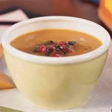 Carrot and Sweet Potato Soup with Cranberry Relish Recipe