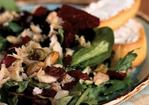 Mixed Greens Salad with Smoked Trout, Pistachios, and Cranberries Recipe