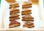 Mini Pumpernickel Grilled-Cheese and Pickle Sandwiches Recipe