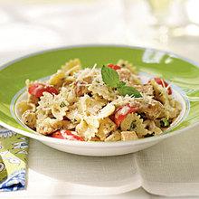 Grilled Chicken and Pesto Farfalle Recipe