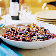 Zinfandel Risotto with Roasted Beets and Walnuts Recipe
