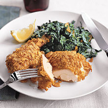 Crispy Chicken and Garlicky Collards Recipe
