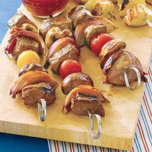 Beef Kebabs with Orange Glaze Recipe