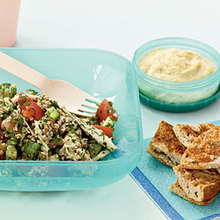 Tabbouleh with Chicken and Red Pepper Recipe