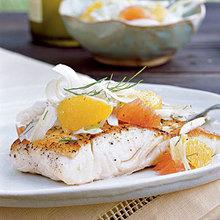 Halibut with Citrus-Fennel Relish Recipe