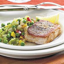 Lemon-Herb Skillet Pork Chops Recipe