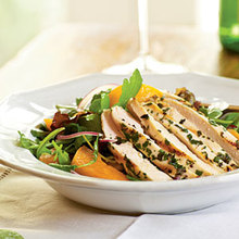 Arugula Salad with Chicken and Apricots Recipe