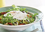 French Frisée Salad with Bacon and Poached Eggs Recipe