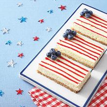 American Flag Cheesecake Bars Recipe