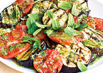 Grilled Eggplant and Tomato Salad Recipe