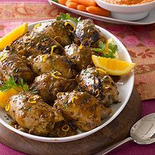 Chicken Thighs with Mustard-Citrus Sauce Recipe
