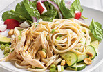 Cold Sesame Noodles with Chicken and Cucumbers Recipe