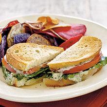 Tomato-Provolone Sandwiches with Pesto Mayo Recipe