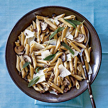Penne with Sage and Mushrooms Recipe