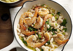 Lemony Shrimp with White Beans and Couscous Recipe