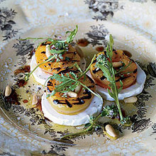 Grilled Apricot, Arugula and Goat Cheese Salad Recipe