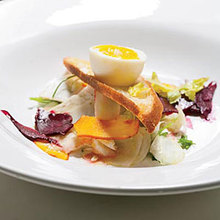 Pickled Vegetable Salad with Soft-Boiled Eggs Recipe