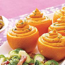 Sweet Potato Puree in Orange Shells Recipe
