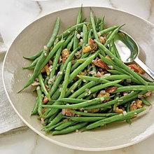 Haricots Verts with Warm Bacon Vinaigrette Recipe