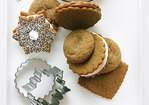 Lemon Meringue-filled Gingersnap Snowflake Cookies Recipe