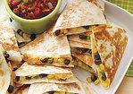 Cheesy Corn-and-Black-Bean Quesadillas Recipe