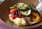 Cheesy Polenta with Roasted Vegetables Recipe