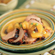Bourbon Pork Tenderloin With Peach Chutney Recipe