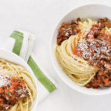 Spaghetti with Quick Meat Sauce Recipe