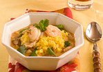 Saffron-Ginger Rice With Thai Red Curry Soup Recipe