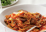 Spaghetti with Sausage and Simple Tomato Sauce Recipe