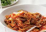 Spaghetti with Sausage and Simple Tomato Sauce Recipe